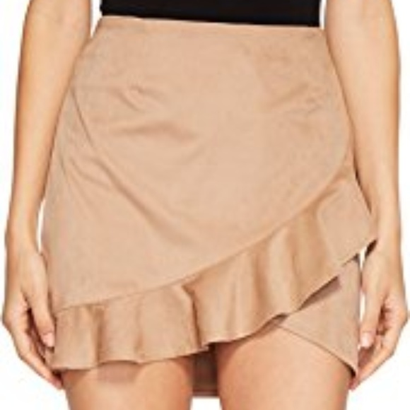 49f6e3a60f Jack by BB Dakota Skirts | Nwt Khan Faux Suede Ruffle Skirt | Poshmark